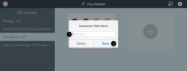Create Table Name