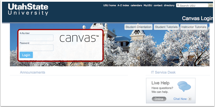 Log into Canvas
