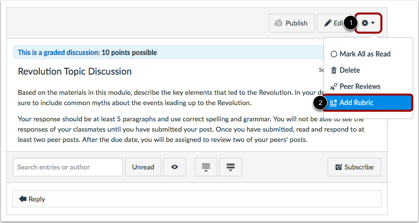 View Published Discussion