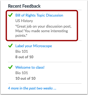 View Recent Feedback