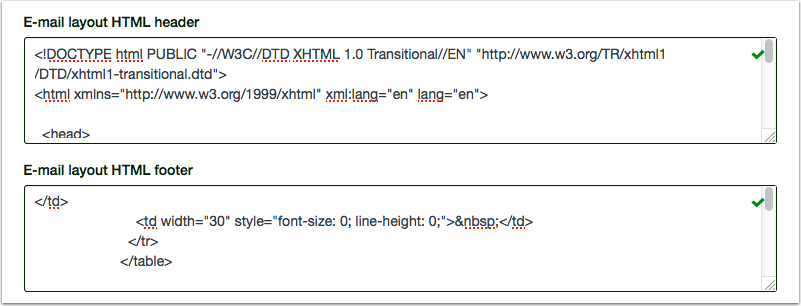 Add Email Layout HTML