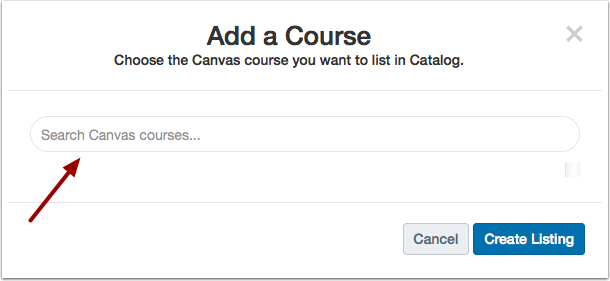 Search Canvas Courses