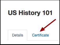 Open Certificate