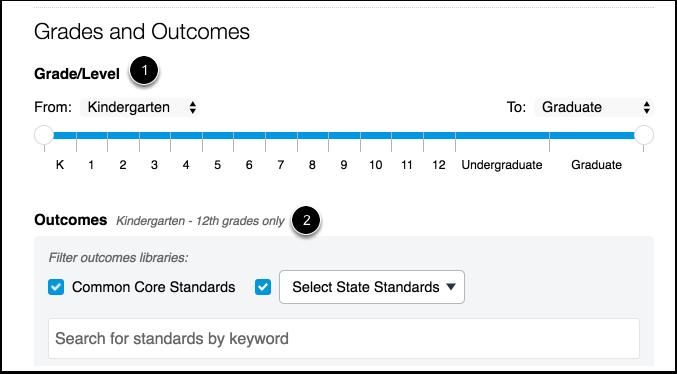 Add Grades and Outcomes