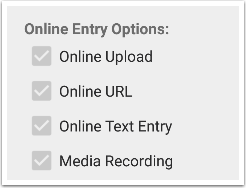 View Online Entry Options