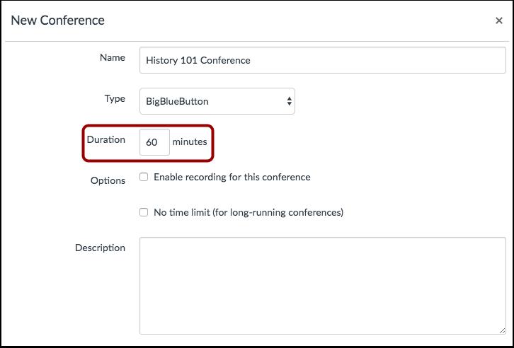 View Time-Limit Conferences