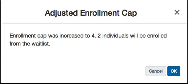 Increase Enrollment Cap