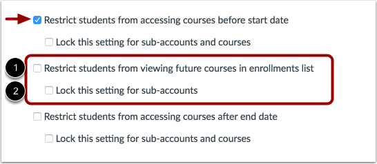 Restrict Course in Enrollments List