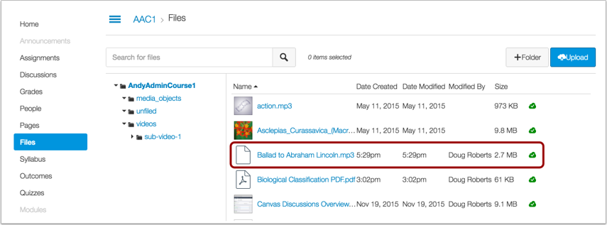 View Updated Resource in Canvas