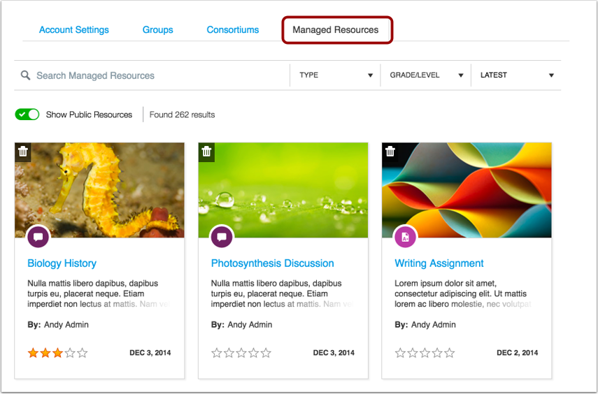 Manage Shared Resources