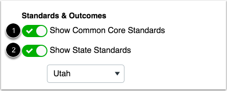 Edit Standards & Outcomes