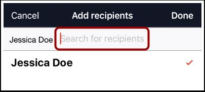 Add Multiple Recipients