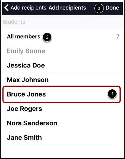 Select Recipients