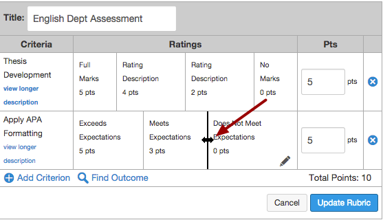 Add Rubric Ratings