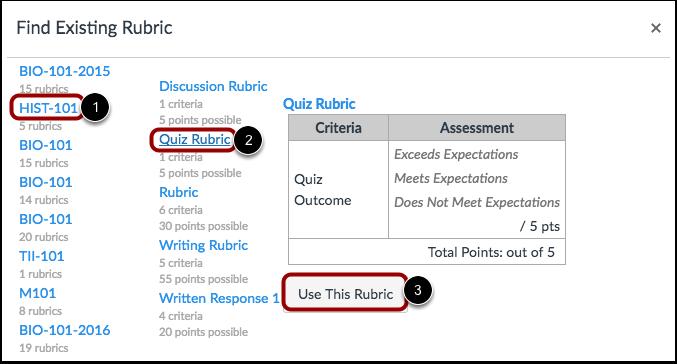 Select Rubric
