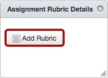 Add Rubric