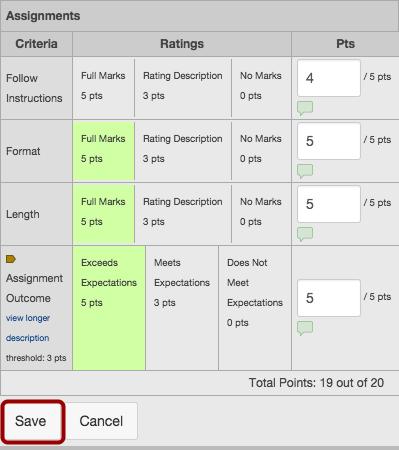 Grade Work Using Rubrics