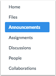 When would I use Announcements?