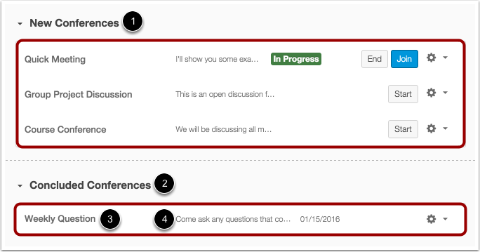 How do I use the Conference Index Page?