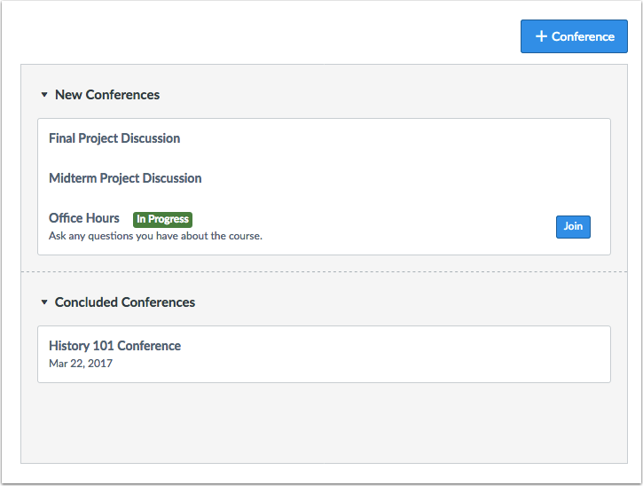 When would I use Conferences as a student?