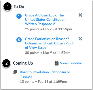 View Sidebar Sections