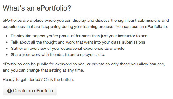 When would I use ePortfolios?