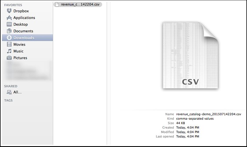 Open CSV File