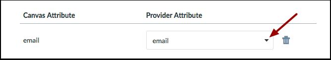 Select Provider Attribute