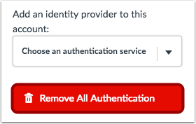 Remove All Authentication
