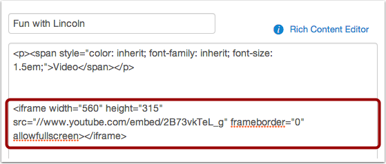 Paste the Embed Code