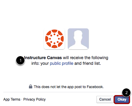 Allow Canvas to connect to Facebook