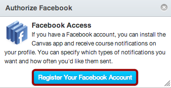 Authorize Facebook