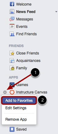 Add Instructure Canvas App to Favorites