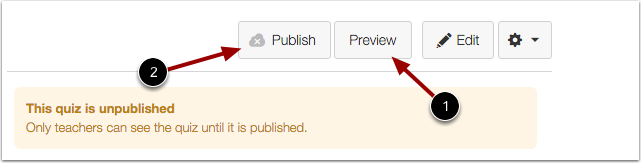 Edit and Publish Imported Quizzes