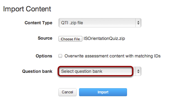 Select Question Bank
