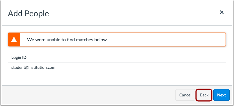 View Matches without Adding