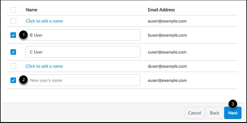 Add via Email Address