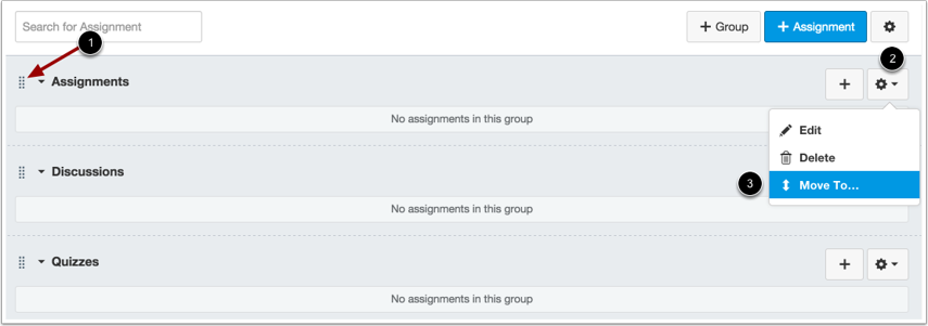 Move Assignment Group