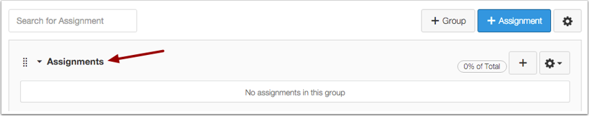 View Assignment Group