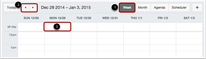Add All-Day Event in Week View