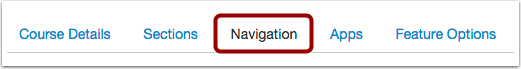 Open the Navigation Tab