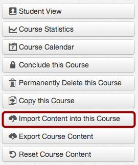 Import Course Content Button