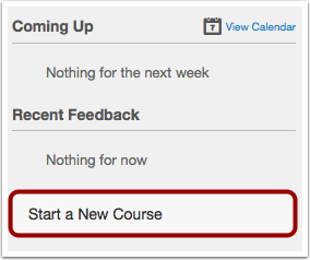 Start a New Course