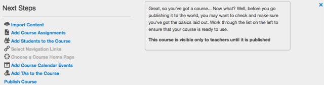 View Course Setup Checklist