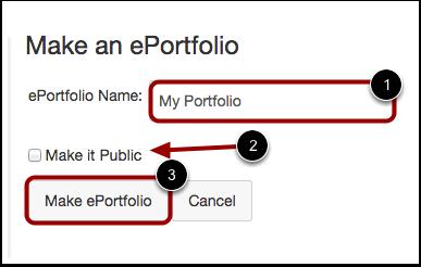 Create ePortfolio