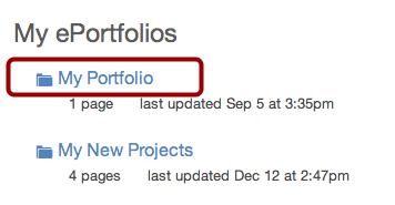 Select ePortfolio