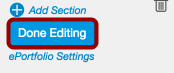 Click Done Editing Button