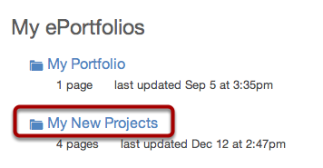 Select ePortfolio