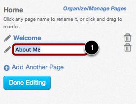 Name Page