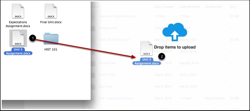 Add Files via Drag and Drop
